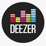 Image of the logo of the streaming music platform deezer.