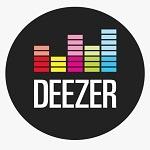 Imagen del logo de la plataforma de música en streaming deezer.